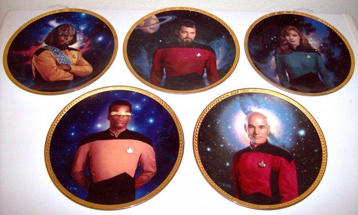 Set of 7 Star Trek Next Generation Hamilton Collection Plates