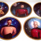 Set of 7 Star Trek Next Generation Hamilton Collection Plates