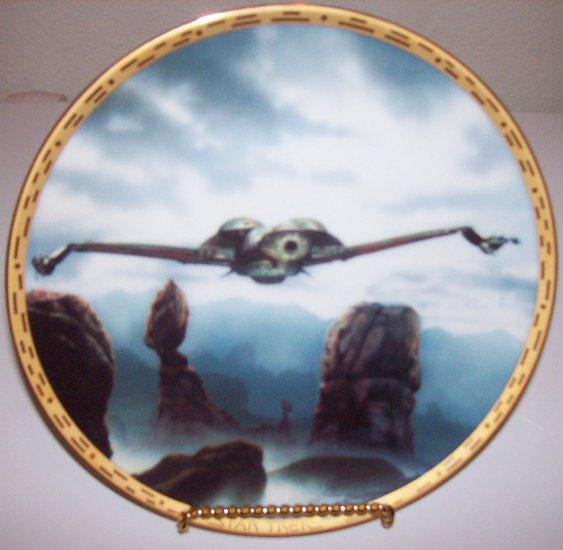 "Star Trek Voyagers ""Klingon Bird Of Prey"" 1994 Hamilton Collection Plate"