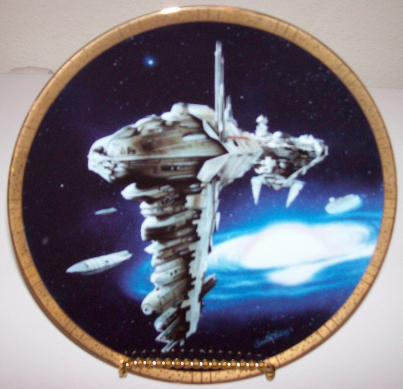 """Star Wars Space Vehicles """"Medical Frigate"""" Hamilton Collection Plate"""