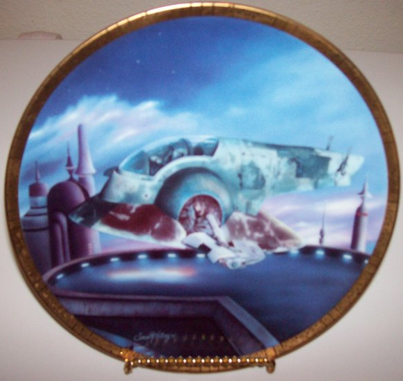 "Star Wars Space Vehicles ""The Slave I"" 1996 Hamilton Collection Plate"