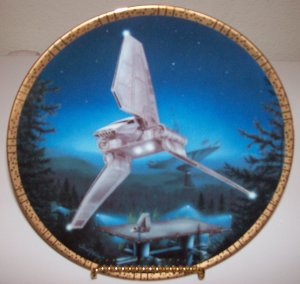 """Star Wars Space Vehicles """"Imperial Shuttle"""" 1995 Hamilton Collection Plate"""