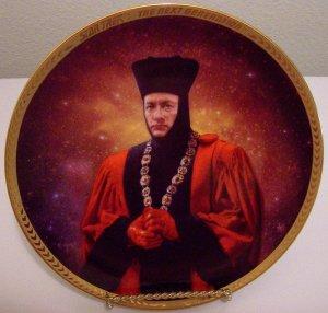 "Star Trek Next Generation ""Q"" Hamilton Collection Plate VERY RARE"