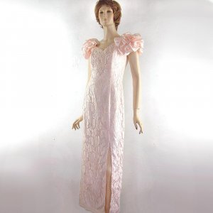 New Pink Prom Dress by BETSY & ADAM Ruffles & Lace! 10