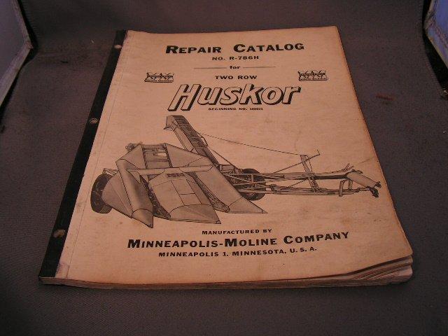 Minneapolis-Moline Repair Catalog No R-786H for 2 row Corn Husker.