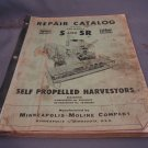 Minneapolis-Moline Repair Catalog Models S and R Combines.