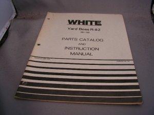 White Yard Boss R-82 Parts Catalog and Instruction Manual.