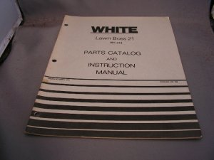 White Lawn Boss 21 Parts Catalog and Instruction Manual.