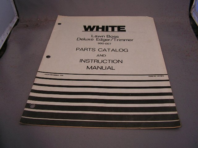 White Lawn Boss Deluxe Edger/Trimmer  Parts Catalog and Instruction Manual.