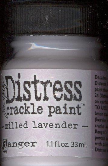 Ranger Distrss Crackle Paint---Milled Lavender