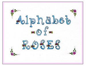 Alphabet of Roses Rubber Stamp Set