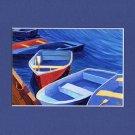 CAPE COD Rowboats Skiff Dinghy Ocean Print R Rutana
