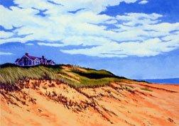 ACEO Print of Original Cape Cod Dune Wellfleet Painting, Renee Rutana