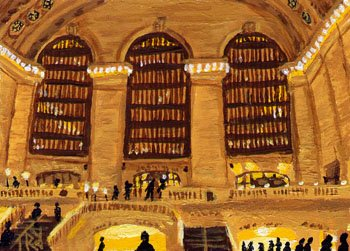 ACEO Print of Original Grand Central, New York City Painting, Renee Rutana