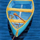 ACEO Print of Original Cape Cod Rowboat Skiff Painting, Renee Rutana