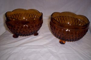 Amber Three-Footed Candy Dish