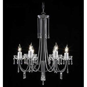 Crystal Italia Six Light Chandelier - James R. Moder