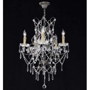 Isabella Collection - 5 Lite Crystal Chandelier by James Moder Lighting