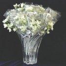 """1 Dozen Diamond White 11"""" Silver Roses"""