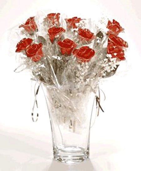 20 Red/Platinum Roses