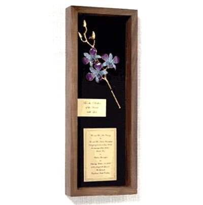 The 5 Bud Orchid Wedding Invitation Remembrance Box