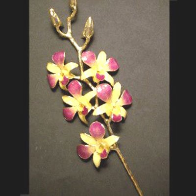 "14"" 5 Flower Orchid"