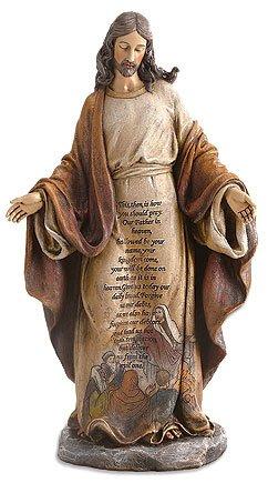 Christ with Lord's Prayer Figurine
