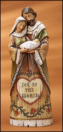 Joy to the World Holy Family Figurine