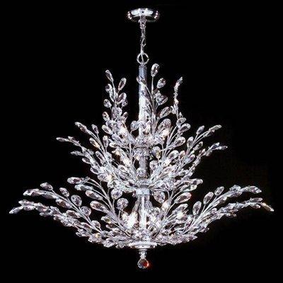 Crystal Florale Eighteen Light Chandelier