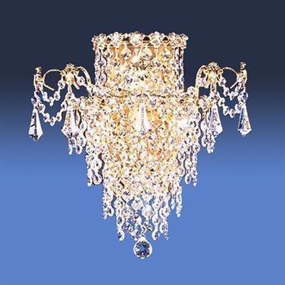 4 Light Empress Tall SemiFlush Semi Flush Ceiling