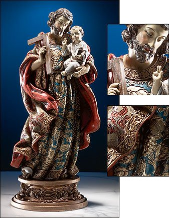 St Joseph & Child Statue
