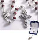 Ruby Marble Rosary
