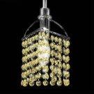Tekno Golf Imperial Crystal Mini Pendant Light Fixture, Topaz