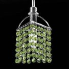 Tekno Golf Imperial Crystal Mini Pendant Light Fixture, Green