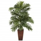 Areca Palm Silk Plant  w/Bamboo Vase