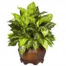 Variegated Dieffenbachia Silk Plant
