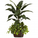 4' Bird of Paradise & Pothos Silk Plant