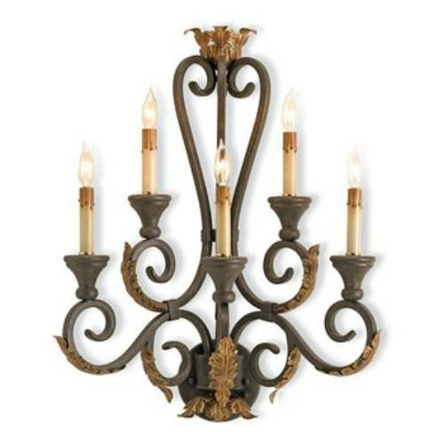 5 Light Orleans Wall Sconce - Large