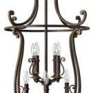 Hinkley Plymouth Olde Bronze Eight-Light Foyer Pendant.