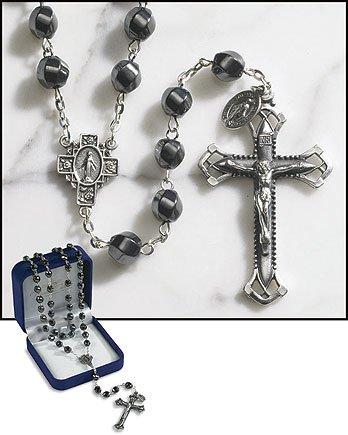 Twist-Hematite Rosary.