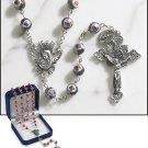 Amethyst Murano Rosary