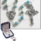 Aquamarine Murano Rosary