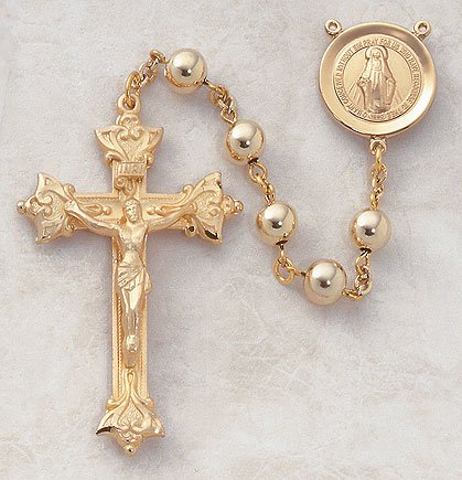 22kt. Gold Over Sterling Rosary