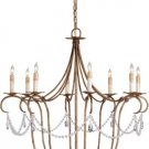 8 Light Crystal Light Chandelier by Currey and Company