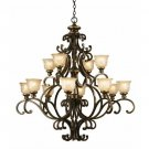 Crystorama Cameo 12-Light Chandelier Bronze Umber