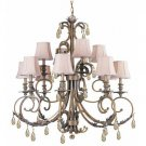 Royal 12 Light Chandelier in Florentine Bronze
