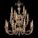 "Etta Collection 16-Light 36"" Olde Brass Chandelier"