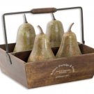 Pears In Basket - Set of 5 by Uttermost