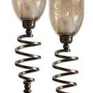 Spiral Twist - Decorative Candleholder (Set of 2) by Uttermost