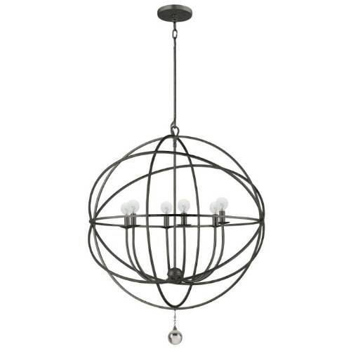 Solaris - Six Light Chandelier by Crystorama Lighting